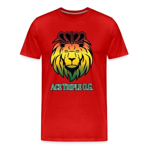 Boss Playa Ace Tripple OG LION Red 3XL Shirt - Men's Premium T-Shirt