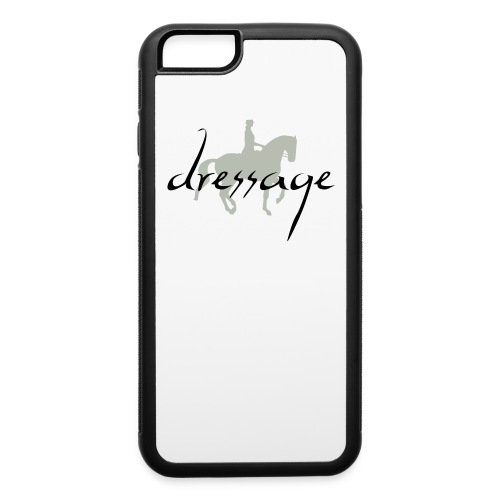 Dressage Piaffe Horse & Rider - iPhone 6/6s Rubber Case