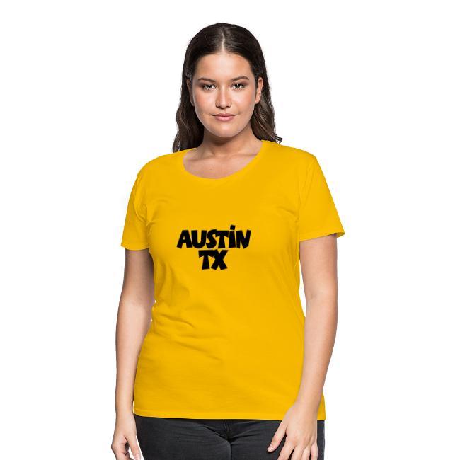 0e82fb71d The Austin T-Shirt Shop | Austin TX T-Shirt (Women YellowBlack ...
