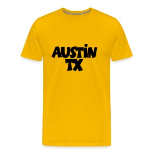 Austin TX T-Shirt (Men Yellow/Black) - Men's Premium T-Shirt