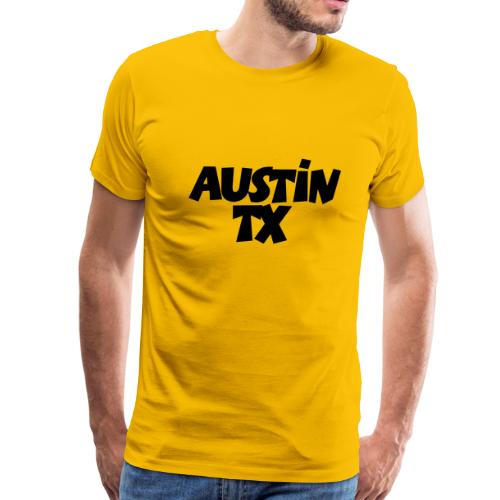 Austin TX T-Shirt (Men Yellow/Black) - Men's Premium T-Shirt