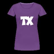 Women's T-Shirts ~ Women's Premium T-Shirt ~ TX T-Shirt (Women Purple/White)
