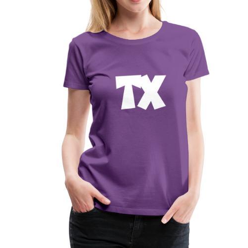 TX T-Shirt (Women Purple/White) - Women's Premium T-Shirt