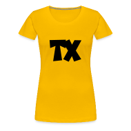 Women's T-Shirts ~ Women's Premium T-Shirt ~ TX T-Shirt (Women Yellow/Black)