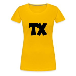 TX T-Shirt (Women Yellow/Black) - Women's Premium T-Shirt