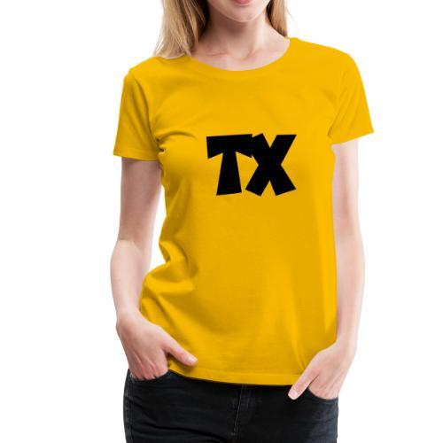 TX T-Shirt (Women Yellow/Black) - Women's Premium T-Shirt