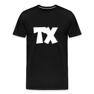 T-Shirts ~ Men's Premium T-Shirt ~ TX T-Shirt (Men Black/White)