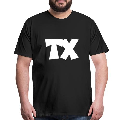 TX T-Shirt (Men Black/White) - Men's Premium T-Shirt