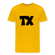 T-Shirts ~ Men's Premium T-Shirt ~ TX T-Shirt (Men Yellow/Black)