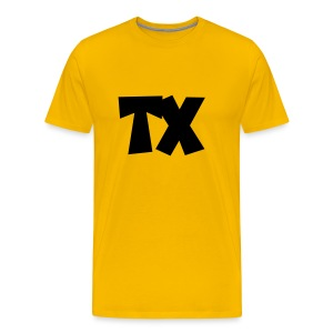 TX T-Shirt (Men Yellow/Black) - Men's Premium T-Shirt