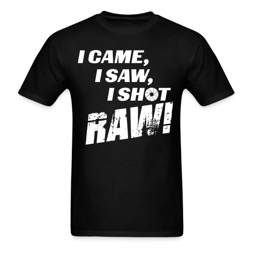I came, I saw, I shot RAW! - Men's T-Shirt