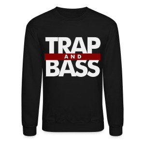 Trap and Bass Mens Crewneck Sweatshirt - Crewneck Sweatshirt