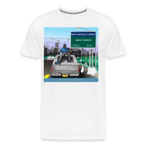 Now Leaving Crooklyn DELUXE EDITION (White T-Shirt) - Men's Premium T-Shirt