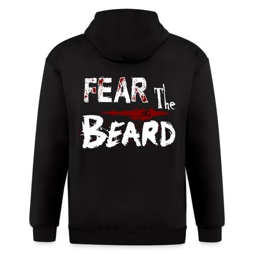 Beard Gains Fear The Beard Zip Hoodie - Men's Zip Hoodie