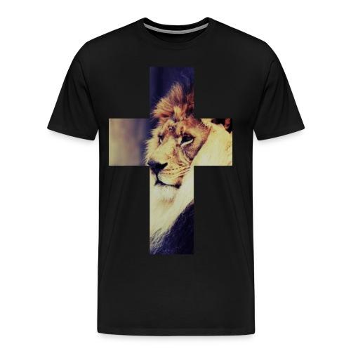 Lion Cross T-Shirt - Men's Premium T-Shirt