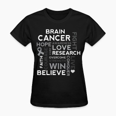 Brain Cancer Hope Fight Overcome Women's T-Shirts