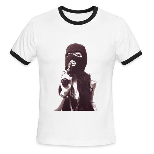 Mens Straight Gorilla tee - Men's Ringer T-Shirt