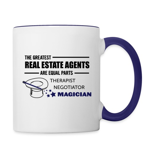 Therapist Negotiator Magician mug left - Contrast Coffee Mug