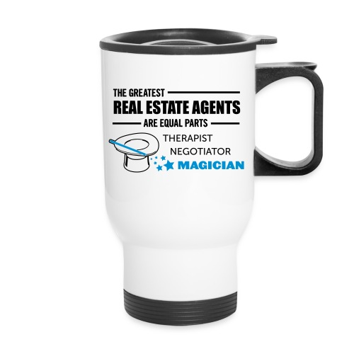 Therapist Negotiator Magician travel left - Travel Mug