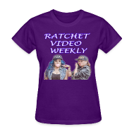 T-Shirts ~ Women's T-Shirt ~ Women's Ratchet Video Weekly Logo