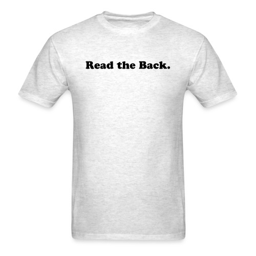 back to front B/text - Men's T-Shirt