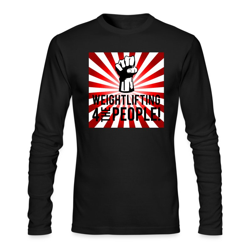 Men's Long Sleeve For The People - Men's Long Sleeve T-Shirt by Next Level