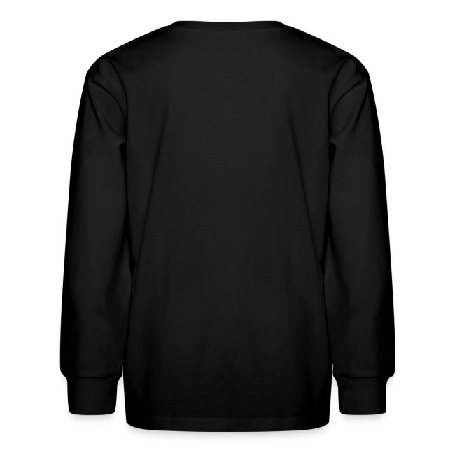 Kids Long Sleeve Black For The People Shirt