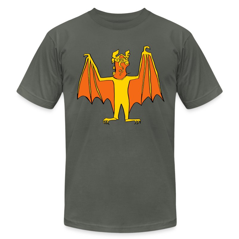 Men's Demon Bat shirt - Men's T-Shirt by American Apparel
