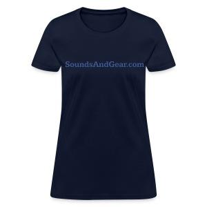 SAG womens tee navy - Women's T-Shirt