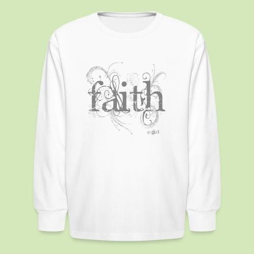 Faith - Kids' Long Sleeve T-Shirt
