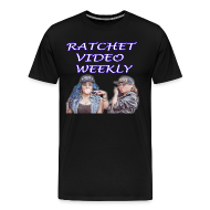 T-Shirts ~ Men's Premium T-Shirt ~ Ratchet Video Weekly Logo Big & Tall