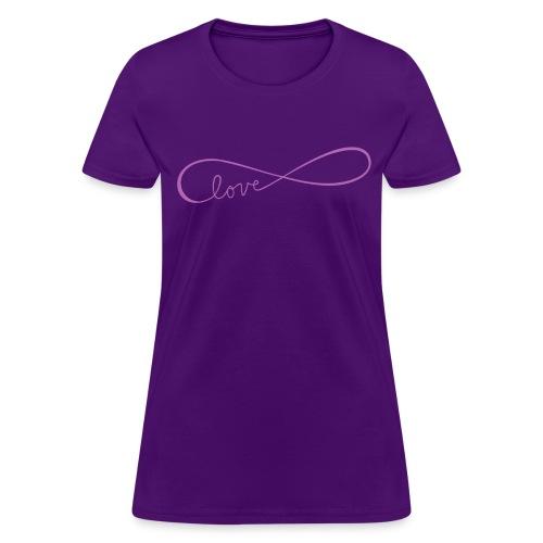 infinite love purple image - Women's T-Shirt