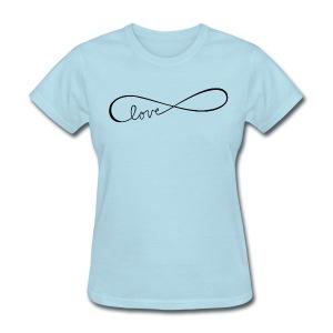 infinite love black image - Women's T-Shirt