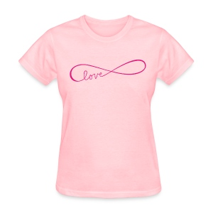 Infinite love pink image - Women's T-Shirt