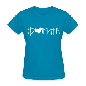 Peace love math white image - Women's T-Shirt