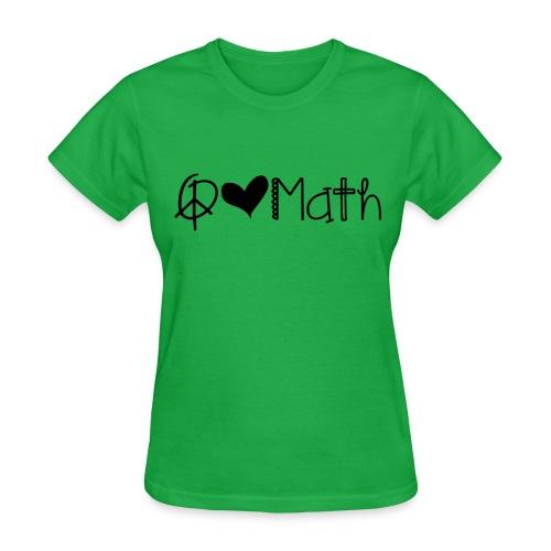 Peace love math black image - Women's T-Shirt