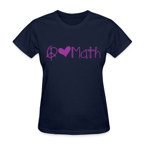 Peace love math purple image - Women's T-Shirt