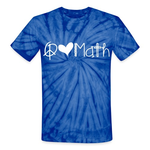 Peace Love Math Tie Dye White image - Unisex Tie Dye T-Shirt