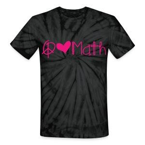 Peace Love Math Tie Dye Pink image - Unisex Tie Dye T-Shirt