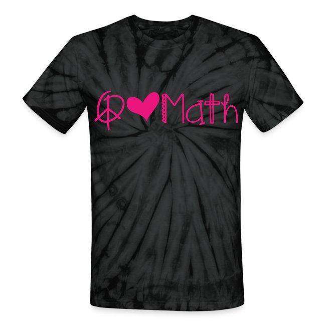 Peace Love Math Tie Dye Pink image
