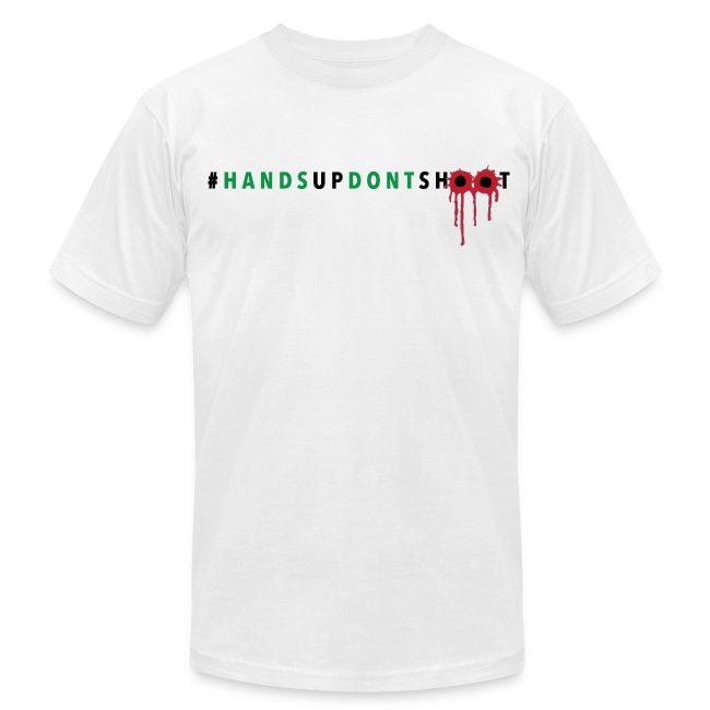 Boss Playa Hands Up Dont Shoot Men's T-Shirt by American Apparel