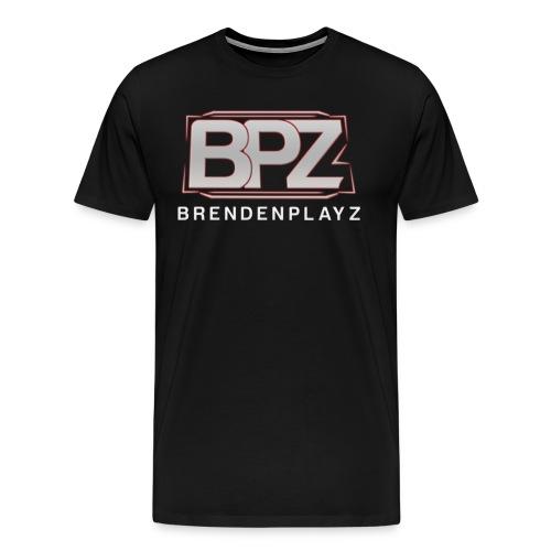 BrendenPlayz Shirt White w/Text - Men's Premium T-Shirt