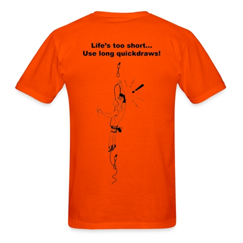 Rock Climbing T shirt - Use Long Quickdraws - Men's T-Shirt