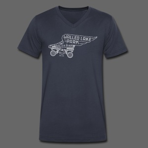Walled Lake Roller - Men's V-Neck T-Shirt by Canvas