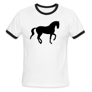 Dressage Piaffe Horse - Men's Ringer T-Shirt