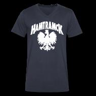 T-Shirts ~ Men's V-Neck T-Shirt by Canvas ~ Hamtramck Eagle