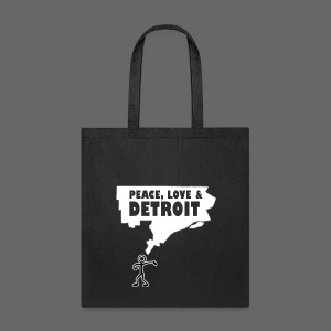 Peace, Love and Detroit - Tote Bag
