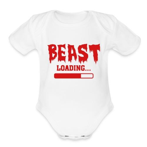 Little Beastie Uni - Organic Short Sleeve Baby Bodysuit