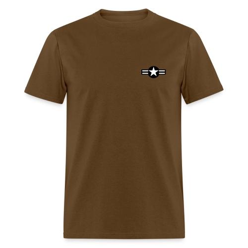 Men's T-Shirt - Design on back/black text