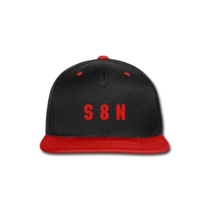 S 8 N cap - red on black - Snap-back Baseball Cap